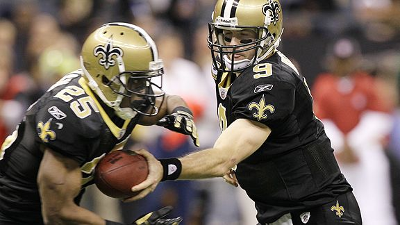 Reggie Bush and Drew Brees
