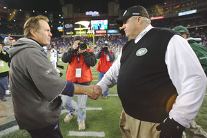 Bill Belichick and Rex Ryan