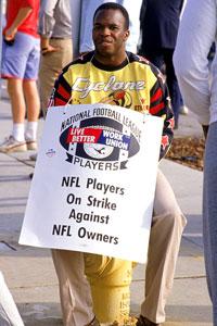 NFL Picketer