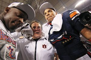 Antoine Carter, Gene Chizik and Cam Newton