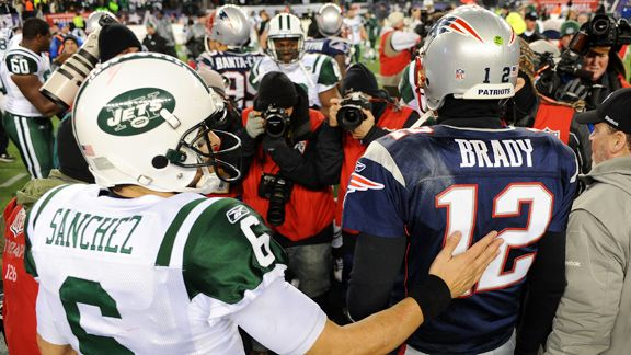 Mark Sanchez, Tom Brady