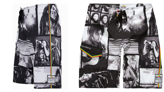 075f44668d One love .. one heart ... two boardshorts. The Bob Marley Collection.  Courtesy Billabong