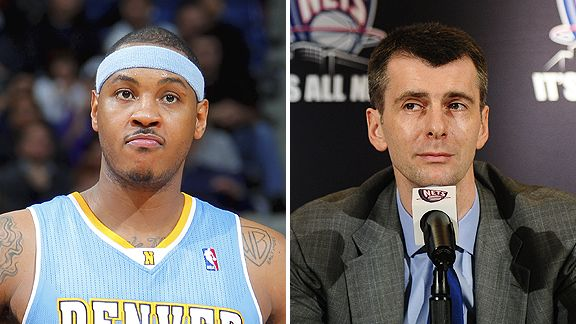 Carmelo Anthony and Mikhail Prokhorov