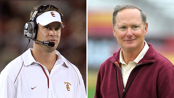 Lane Kiffin and Pat Haden