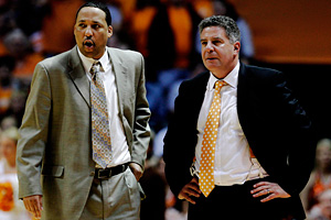 Tennessee's Bruce Pearl and Tony Jones