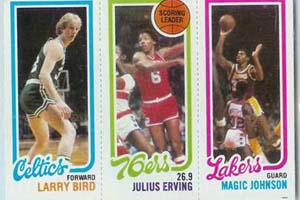 Larry Bird, Julius Erving & Magic Johnson