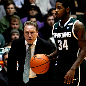 Tom Izzo and Korie Lucious
