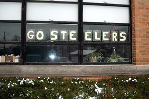Go Steelers Sign St. Rosalia School
