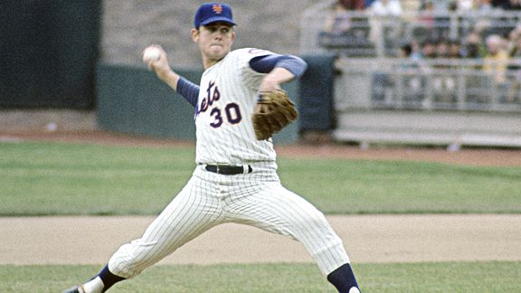 Nolan Ryan while with the New York Mets in the 1969 World Series