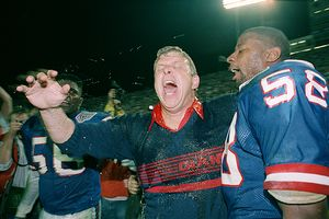 Bill Parcells and Carl Banks