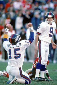 Jeff Hostetler and Matt Bahr