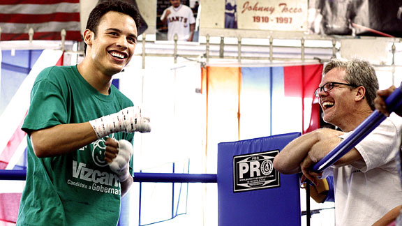 Chavez Jr and Freddie Roach