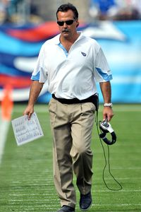 Jeff Fisher took over as interim coach of the Houston Oilers in 1994 and guided the team through its move to Tennessee.