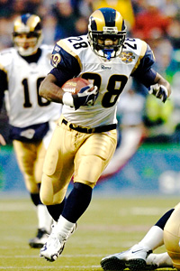 St. Louis Rams running back Marshall Faulk