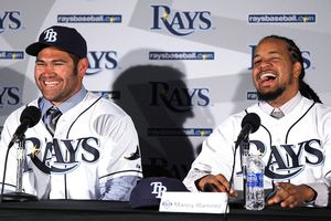 Manny Ramírez y Johnny Damon