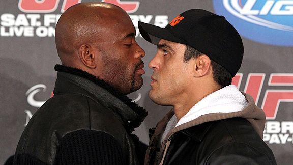 Anderson Silva and Vitor Belfort