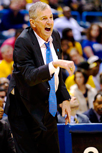 Connecticut Huskies head coach Jim Calhoun