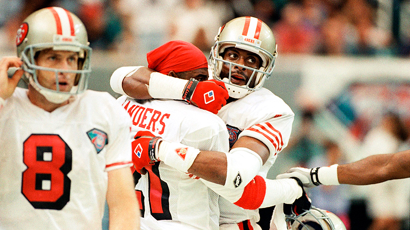 Deion Sanders, Jerry Rice