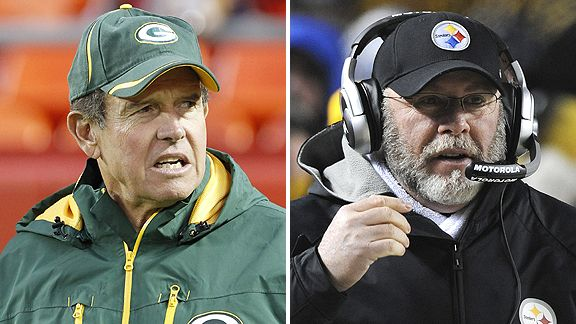 Dom Capers and Bruce Arians
