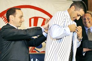 Brian Cashman and Andy Pettitte