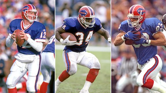 Jim Kelly, Thurman Thomas, and Andre Reed