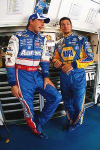 David Reutimann and Martin Truex Jr.