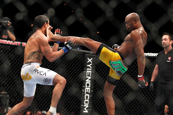 Anderson Silva and Vitor Belfort