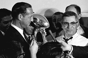 Pete Rozelle and Vince Lombardi