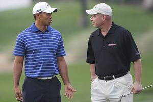 Tiger Woods and Lt. Col. Micheal Rowells