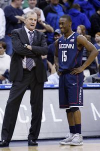 Jim Calhoun and Kemba Walker
