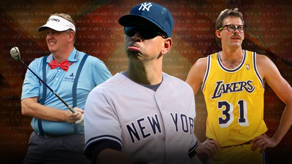 Colin Montgomerie, Alex Rodriguez, Kurt Rambis