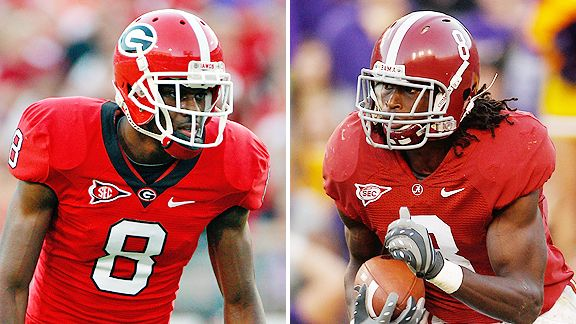Many draft experts  rate Georgia receiver A.J. Green over Alabama counterpart  Julio Jones.