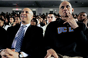 Cory Booker and Kareem Abdul-Jabbar