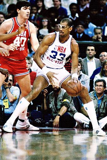 on sale 0faf8 6aa02 Kareem Abdul-Jabbar 1985 - All-Star Lakers - ESPN
