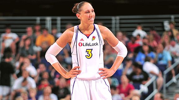 Diana Taurasi, among the best women's players in the world, says it would be a long shot for a woman to play in the NBA.