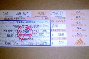 Yankees ticket
