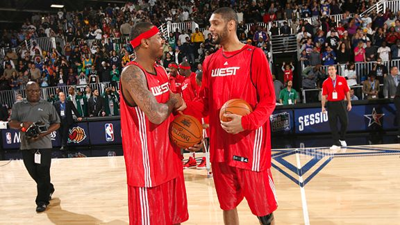 Tim Duncan and Carmelo Anthony