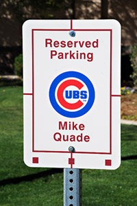 Cubs Parking Sign