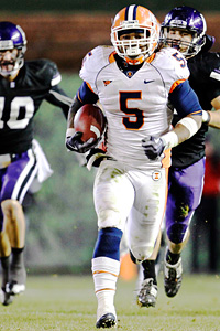 Illinois running back Mikel Leshoure