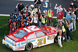 No. 21 crew celebrates