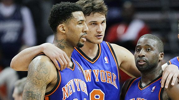 Wilson Chandler, Danilo Gallinari and Raymond Felton