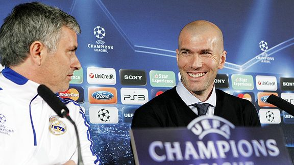 Jose Mourinho and Zinedine Zidane