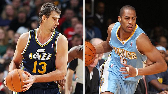 Mehmet Okur and Arron Afflalo