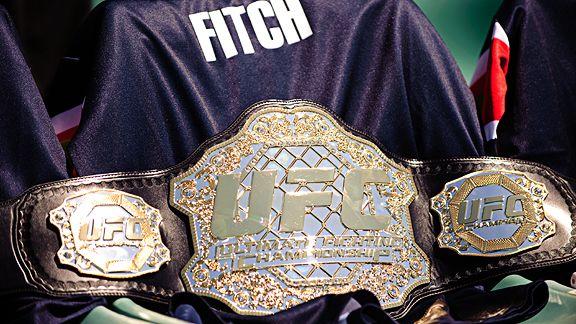 Jon Fitch UFC championship belt