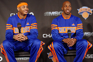 Carmelo Anthony and Chauncey Billups