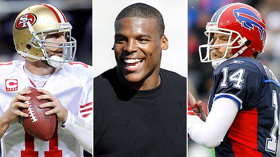 Alex Smith, Ryan Fitzpatrick and Cam Newton