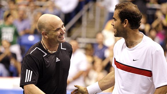 Andre Agassi and Pete Sampras