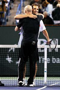 Andre Agassi and Pete Sampras