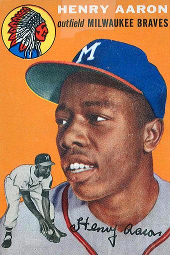 Hank Aaron Rookie Card Hank Aaron Gallery Espn