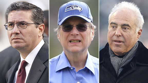 Daniel Snyder, Paul Allen and Jeffrey Lurie